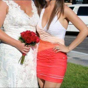 Bebe summer cocktail halter dress!! Size XS